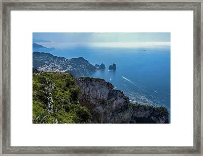 Anacapri On Isle Of Capri Framed Print