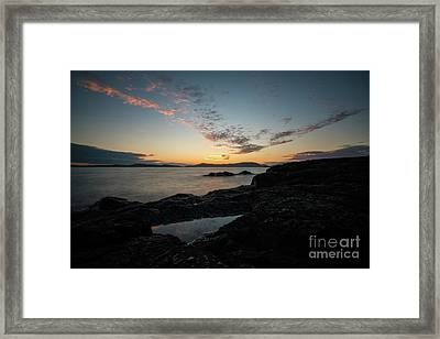 Anacortes Tidepool Sky Window Framed Print