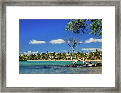 Anaehoomalu Bay Framed Print by James Eddy