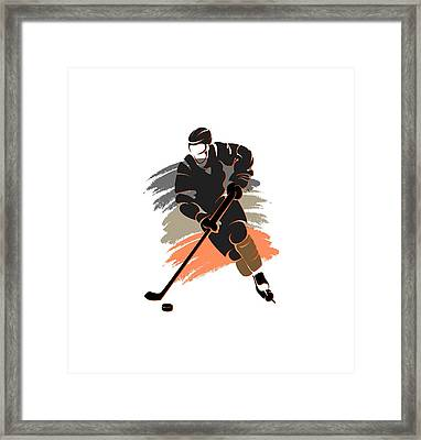 Anaheim Ducks Player Shirt Framed Print