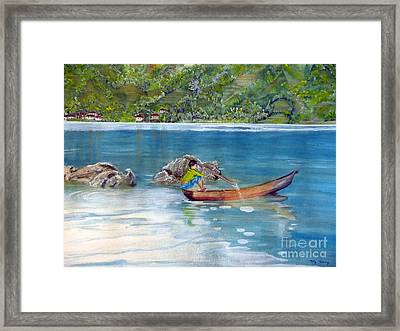 Framed Print featuring the painting Anak Dan Perahu by Melly Terpening