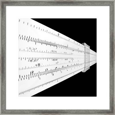 Analog Math Framed Print