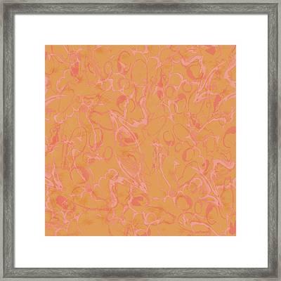 Analogous Dribble Painting Framed Print