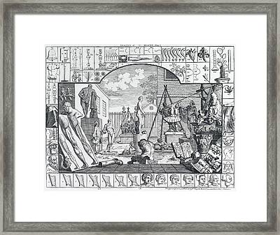 Analysis Of Beauty Engraving By Hogarth  1753 Framed Print