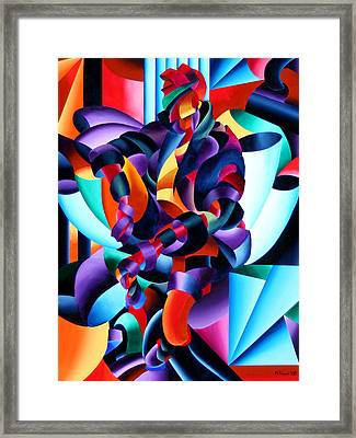 Framed Print featuring the painting Anamorphosis From The Outside In by Mark Webster
