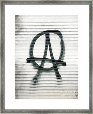 Anarchist Symbol Framed Print by Jannis Werner