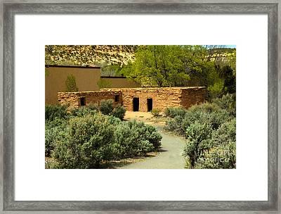 Anasazi  Buildings Framed Print