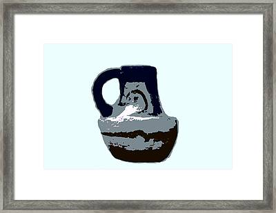 Anasazi Jug Framed Print by David Lee Thompson