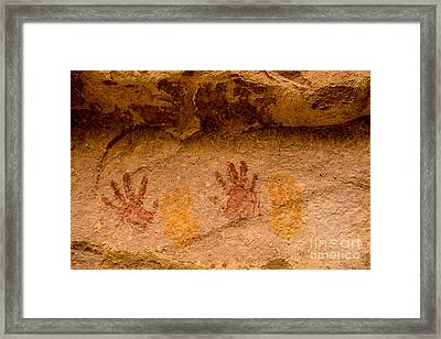 Anasazi Painted Handprints - Utah Framed Print
