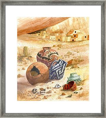 Anasazi Remnants Framed Print