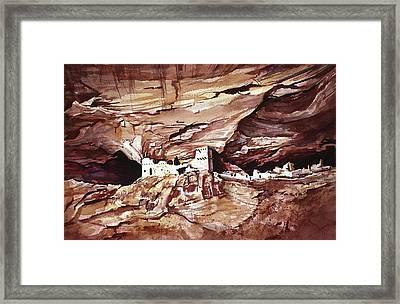 Anassasi Wall Ruins Framed Print