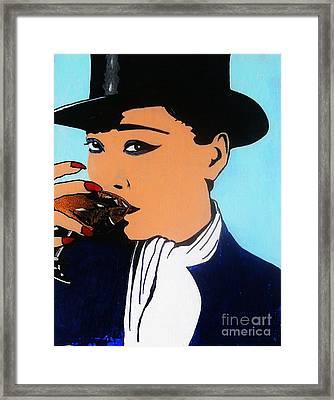 Framed Print featuring the painting Anata Ni Sozoku-jin Bigguboi by Roberto Prusso