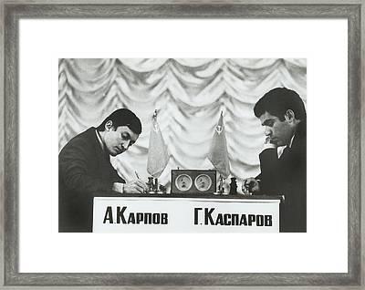 Anatoly Karpov And Gari Aka Gary Framed Print by Everett