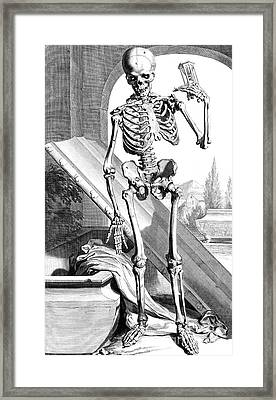 Anatomia Humani Corporis, Table 87, 1690 Framed Print by Science Source