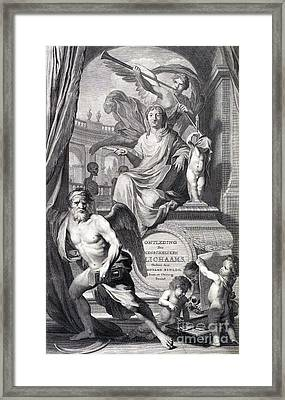 Anatomia Humani Corporis, Title Page Framed Print by Science Source