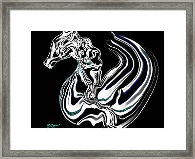 Anatomical Study Of The Legendary Pegaseahorse Framed Print