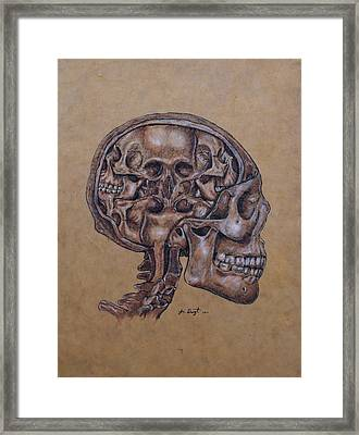 Anatomy Of A Schizophrenic Framed Print by Joe Dragt
