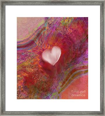 Anatomy Of Heart Framed Print