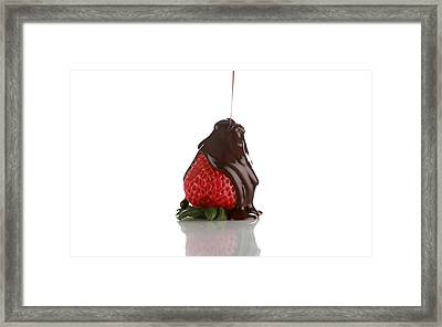 Anatomy Of The Choclate Covered Strawberry Framed Print by Michael Ledray