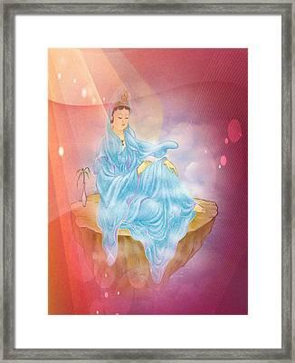 Anavatapta Kuan Yin 1 Framed Print by Lanjee Chee