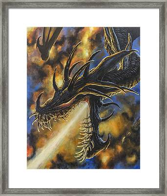 Ancalagon The Black Framed Print by Kip Rasmussen