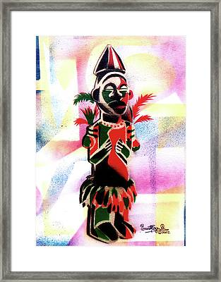 Ancestral Guardian Framed Print