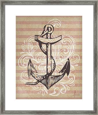 Anchor Framed Print by Adrienne Stiles
