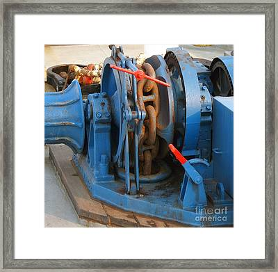 Anchor Winch Framed Print by Yali Shi