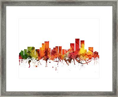 Anchorage Cityscape 04 Framed Print