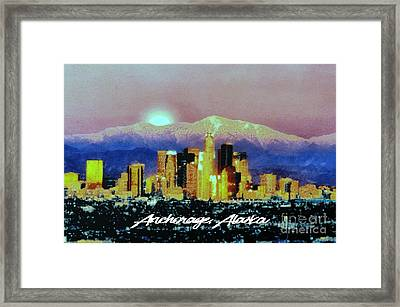 Anchorage-subdued Framed Print