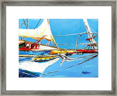 Anchored 2 Framed Print by Marti Green