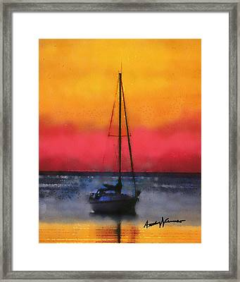 Anchored Framed Print by Anthony Caruso