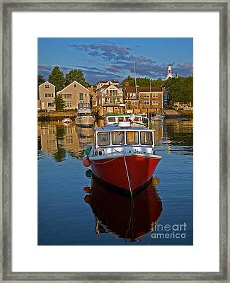 Anchored At Cape Ann Framed Print