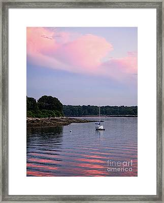 Anchored At Peaks Island, Maine  -07828 Framed Print