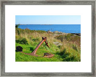 Anchored Framed Print by Corinne Rhode