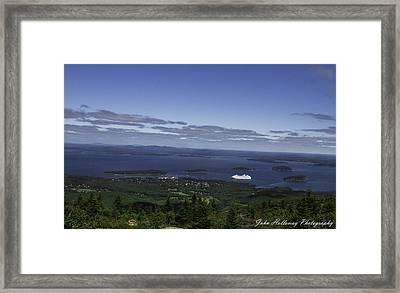 Anchored Framed Print by John Holloway