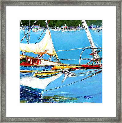 Anchored Framed Print by Marti Green