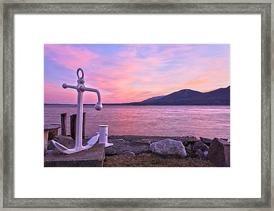 Anchors Aweigh Framed Print by Angelo Marcialis
