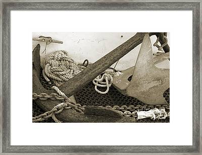 Anchors Framed Print