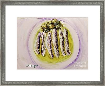 Anchovies And Olives Framed Print