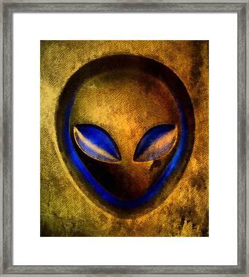 Ancient Alien Framed Print by Raphael Terra