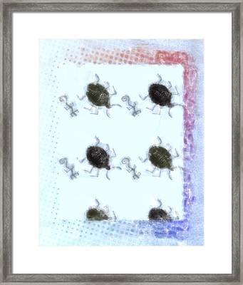 Ancient Animals Buglike Framed Print by Tommytechno Sweden