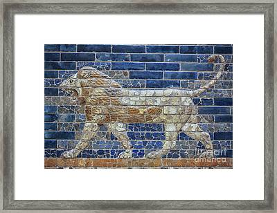 Ancient Babylon Lion Framed Print
