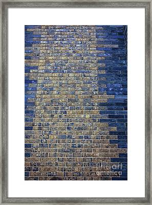Ancient Babylonian Inscriptions Framed Print by Patricia Hofmeester