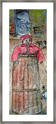 Framed Print featuring the painting Ancient Babysitter by Debbi Saccomanno Chan