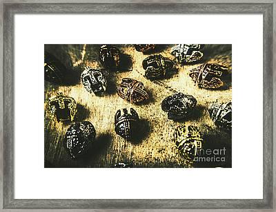 Ancient Battlefield Armour Framed Print