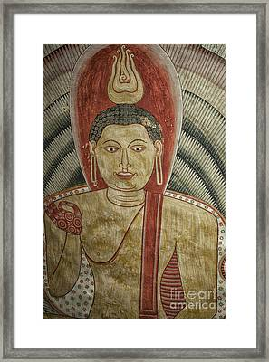 Ancient Buddha Painting In A Cave Framed Print by Patricia Hofmeester