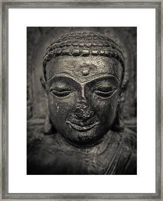 Ancient Buddha Statue Framed Print by Mr Doomits