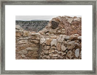 Framed Print featuring the photograph Ancient Buildings by Phyllis Denton