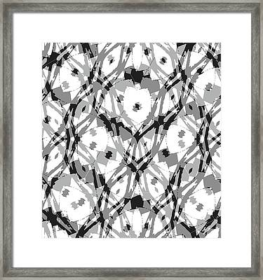 Ancient Carving-2  Framed Print by Barbara Jacobs